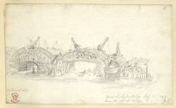 Building London Bridge, 1827 f56